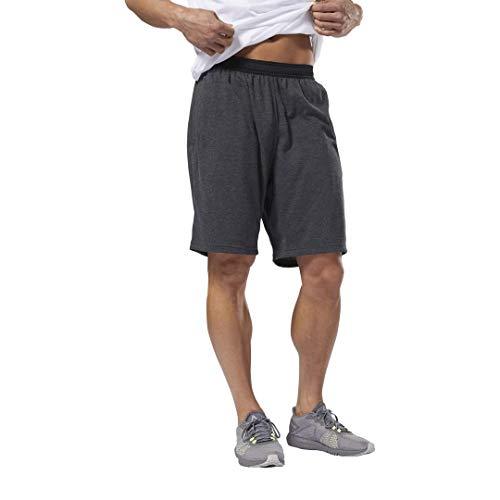 Reebok Men's Training Jersey Short, Dark Grey Heather, X-Small