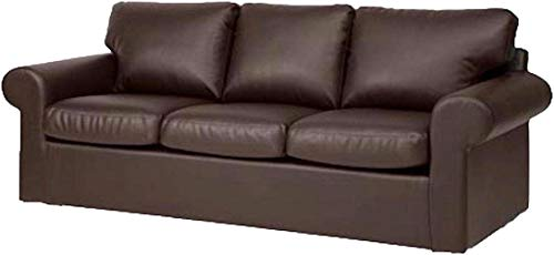 Ektorp 3 Seat Sofa Cover Replacement is Custom Made Slipcover for IKEA Ektorp Sofa Cover (New Brown PU Leather)