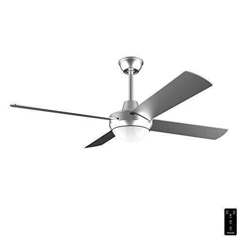 Cecotec Ventilador de Techo EnergySIlence Aero 570. 60 W, 132 cm de Diámetro, Luz LED, 4 Aspas, 3 Velocidades, Temporizador, Función invierno, Mando a distancia, Diseño en Acero