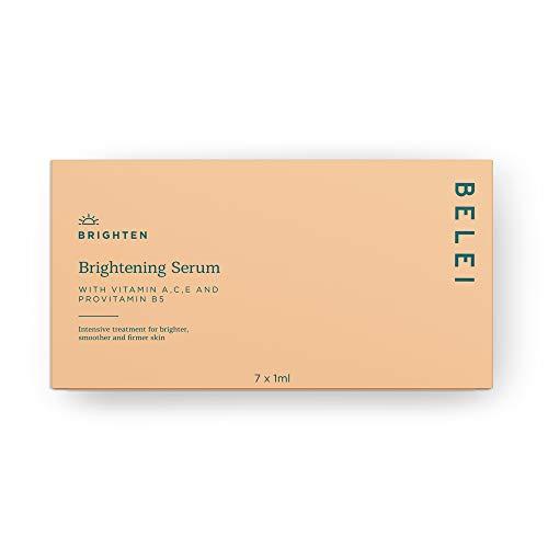 Amazon-Marke: Belei - aufhellendes Serum mit Vitamin A, C, E und Provitamin B5, 7 x 1ml
