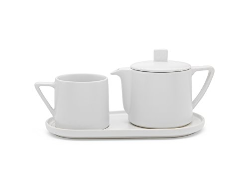 Bredemeijer Tea-for-one Set Lund, Weiss, Keramik, 14 x 30 x 11.9 cm