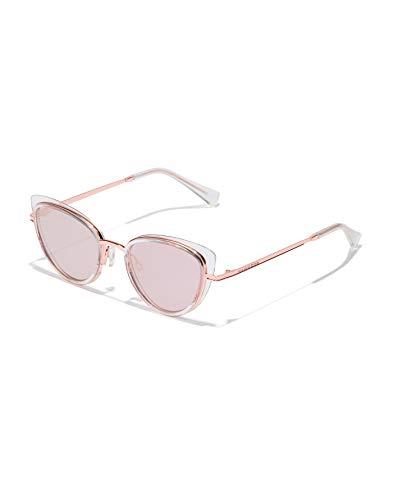 HAWKERS Feline Gafas de Sol, Clear · Rose Gold, Talla única para Mujer