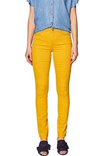 Pantalones slim amarillos para mujer