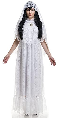 Charades Women's Vintage Bride Costume Adult Sized, White, Larg