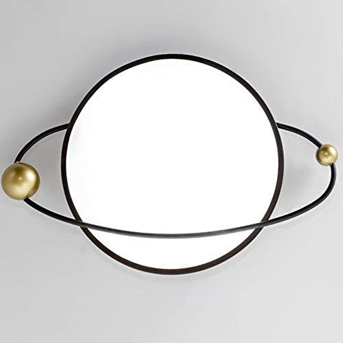 Asncnxdore Moderna Iluminación De Techo LED Simple Con Personalidad Creativa Redondeada Nórdica Hierro Techo (diámetro 48cm * 5 Cm De Espesor)