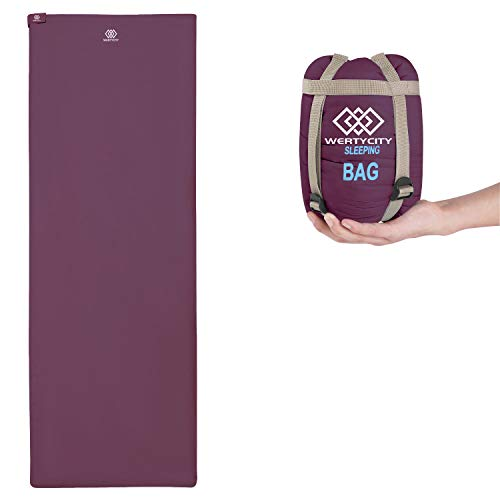 Sleeping Bags, One of The Smallest and Lightest 3 Seasons Sleeping Bag, Ultra-Compact for Indoor Outdoor Use, Adults Kids Sleepover, Traveling, Camping, Backpacking, Hiking (Wine Red)
