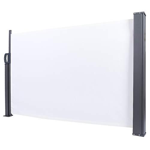 Toldo lateral retráctil para protección del sol para privacidad, biombo extraíble, para exterior, toldo lateral para patio, 100 x 300 cm (beige)