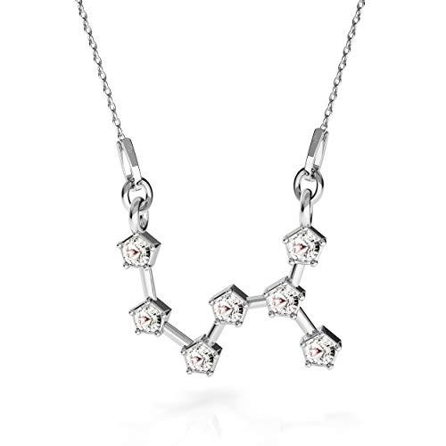 Beforia Paris - halsketting - sterrenbeeld - schorpioen - kristal - met zilveren ketting van 925 zilver met Swarovski® Elements hanger, cadeau, halsketting met sieradenetui PIN/75