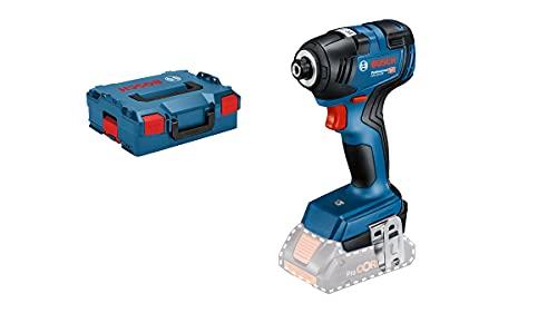 Bosch Professional 06019J2106 GDR 18V-200 - Atornillador de impacto a batería, 18 V, Azul, en L-BOXX