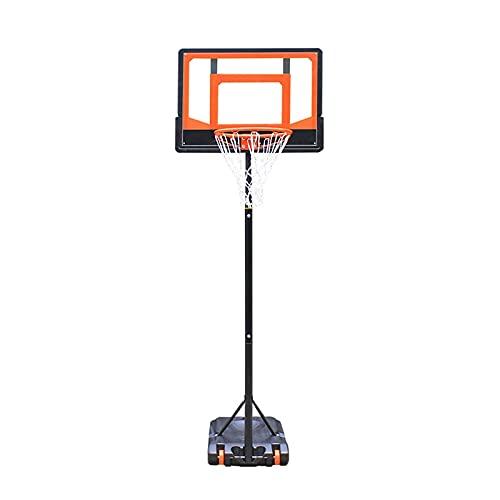 Aro de Baloncesto Aro de Baloncesto portátil para Exteriores para niños y Adolescentes, 5 Pasos de Altura Ajustable 1,55-2,1 m Soporte de Baloncesto de pie, Estable y Duradero (Color: Style2)