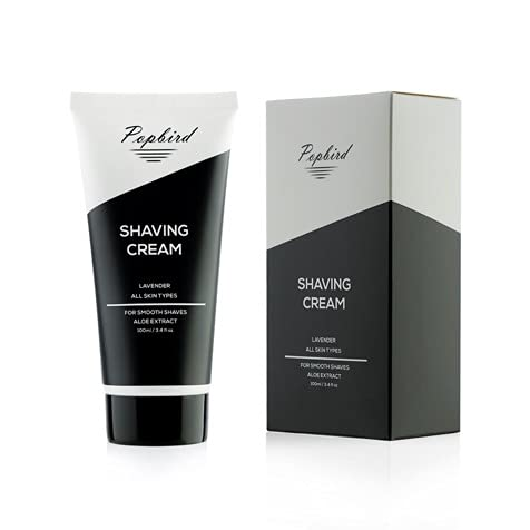 Popbird 3.4oz Moisturizing Mens Shaving Max 52% OFF Size Genuine Aloe Cream Travel