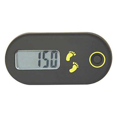 Auplew Podómetro mini 3D fácil para hombres y mujeres, caminar, podómetro, contador de pasos y millas de deporte, accesorio deportivo