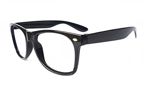 FancyG Classic Wayfarer Estilo transparente lentes Gafas de montura de las gafas