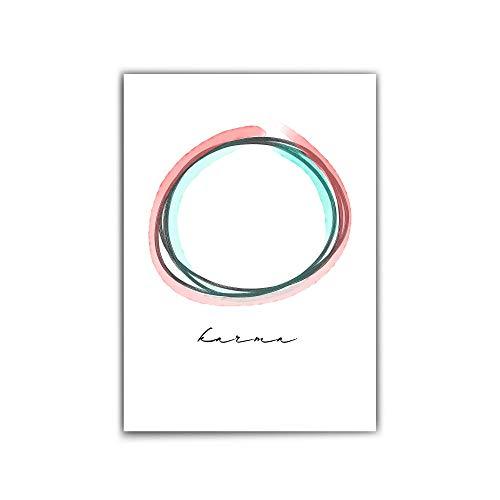 Karma Poster – din a4-30x40 cm – Typographie – ying yang Poster - Positive Inspiration - Hochwertiges mattes Fotopapier 210 g/m² - ohne Bilderrahmen