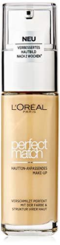L'Oreal Paris Perfect Match Make-up 2.5.D/2.5.W Macadamia, flüssiges Make-up, hautton-anpassend, pflegt die Haut mit Hyaluron und Aloe Vera