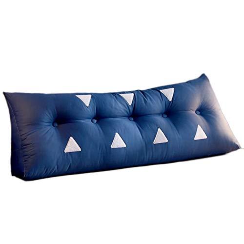 Katoenen bed hoofdbed lang kussen slaapkamer blauw kussen driehoek dubbele bank grote achterkant zachte tas afneembaar