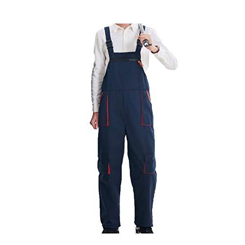 Pantalones de trabajo, SENRISE Peto y Brace con múltiples bolsillos para la rodilla para hombres - Dungarees Workwear, azul