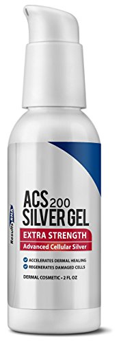 Results RNA ACS 200 Colloidal Silver Gel Extra Strength | Advanced Cellular Silver Topical Gel for Sunburn, Wounds, Rashes, Skin Irritations (2 oz)