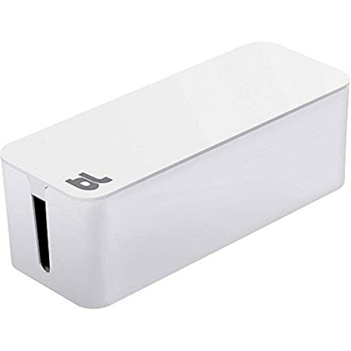 Bluelounge Cable Box, Soluzione di Gestione Cavi, Colore Bianco