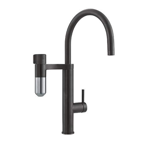 FRANKE 120.0551.241 Vital J - Rubinetto da cucina con filtro ad acqua, nero opaco/acciaio ottico