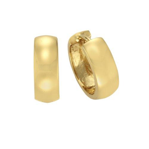 Zeeme Basic Damen Creolen 925 Sterling Silber vergoldet poliert 273210051V