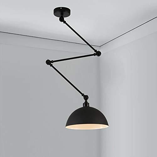 Zhuowei Vintage Deckenleuchten, ausziehbare Lampenfassung Leuchtmittel Lampenschirm Hängelampe Deckenlampe Pendelleuchte für Wohnzimmer/Küche/Büro/Praxis,3