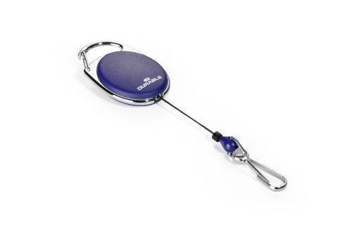 Durable 832707 Schlaufenclip Jojo Style (mit Federhaken) 1 Stück dunkelblau