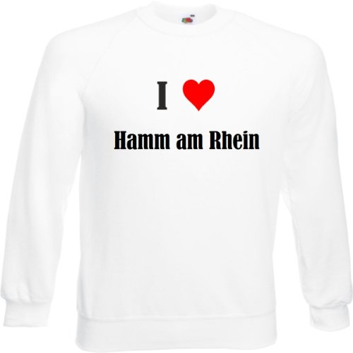 Reifen-Markt Sweatshirt I Love Hamm am Rhein Größe 2XL Farbe Weiss Druck Schwarz