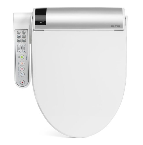 BioBidet BLISS BB-1700 Elongated White Bidet Toilet Seat with Warm...