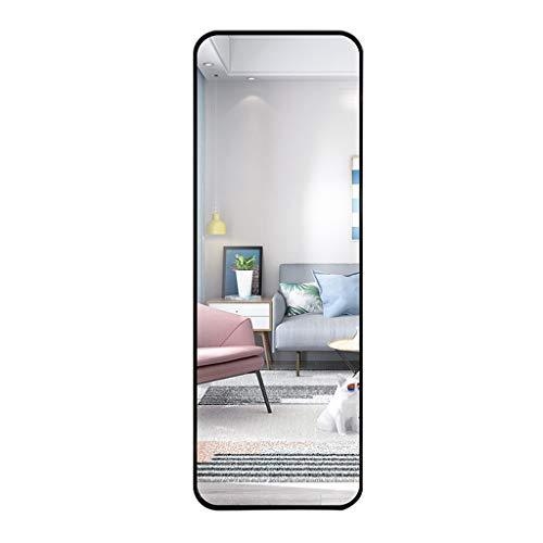Home Décor Espejo Rectangular de Cuerpo Entero, Espejo de tocador de Pared HD para Dormitorio, Sala de Estar y Entrada, Espejo Decorativo de pie, Marco de aleación de Aluminio