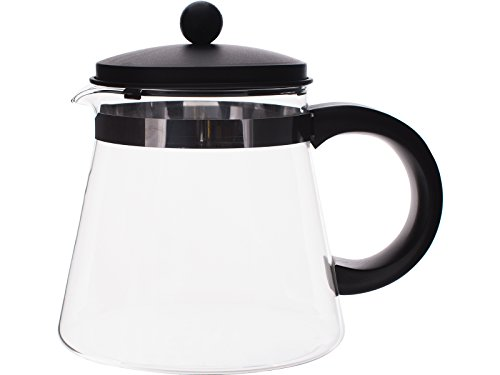 RANDWYCK Manhattan Schwarz Kaffee Topf, Mehrfarbig, 1500ml