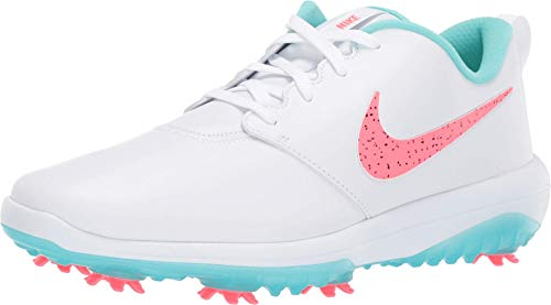 Nike Roshe G Tour Hombre Golf Zapatos AR5580 Sneakers Zapatos (UK 8 US 9 EU 42.5, White Hot Punch Green 103)