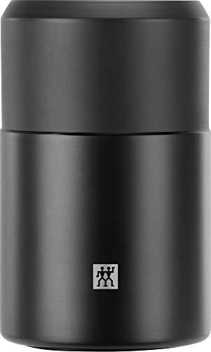 Zwilling Thermo Speisebehälter, Integrierte Schüssel, Doppelwandisolierung, Inklusive Löffel, 700 ml, Höhe: 17 cm, Schwarz