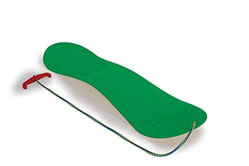 JAMARA 460392 - Snow Play Snowboard 72cm grün - aerodynamische Bauweise, Ziehschnur mit Griff, extra glatte Rutschfläche auf der Unterseite mit Gleitkufen, Anti Rutsch Oberfläche auf der Oberseite