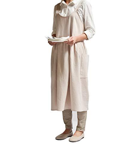 ACMEDE Frau Schürze Küchenschürze Kochschürze Backschürze, Schön Schürze mit 2 Taschen für Damen, Schürze für Home Küchen, Cafe und Kellnerin