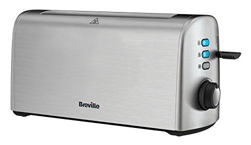 Breville VTT713X-01 Tostador Doble Rebanada VTT713X, 1300 W, 0 Decibeles, Acero Inoxidable, 4 Ranuras, Inox