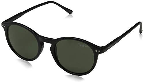 Pepe Jeans Herren Mateo Sonnenbrille, Schwarz (Black/Green), 48.0