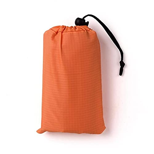 140 * 200 cm Pocket Picnic Impermeable Playa Mat Arena Manta Libre Camping Picknick Carpa Cubierta Plegable Ropa de Cama (Color : Orange, Size : 1x1.4M)