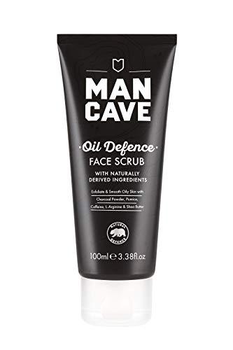 ManCave Oil Defence Gezichtsspeling, 100 ml, Peeling & Smooth Vette huid