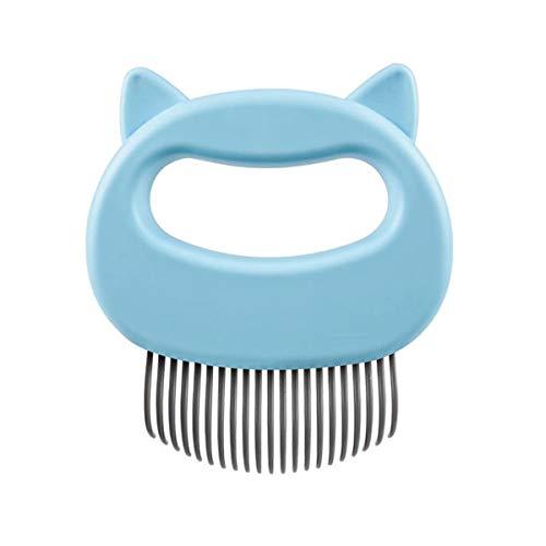 HONBON Katzenkamm, Massagegerät, Tierhaarentfernung, Massagekamm, Fellpflege-Werkzeug zum Entfernen von mattem Fell, Knoten und Verfilzungen