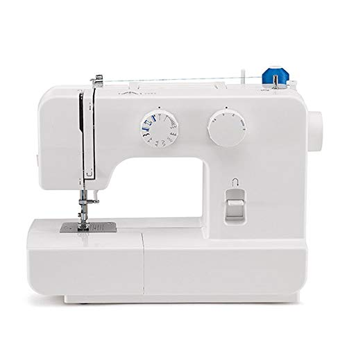 Sewing Machine Mini Household Small Desktop Sewing Machine Electric Entry-Level Sewing Machine for Denim Curtains Leather DIY (Color : White, Size : 360X170X280mm)