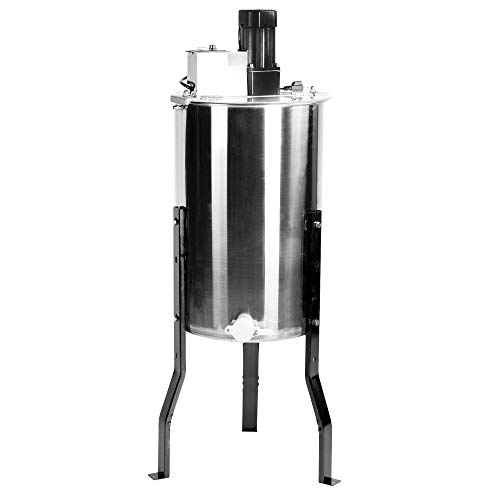 VIVO Large Electric 2 Frame Stainless Steel Honey Extractor with Strainer, Honeycomb Drum Spinner BEE-V002E
