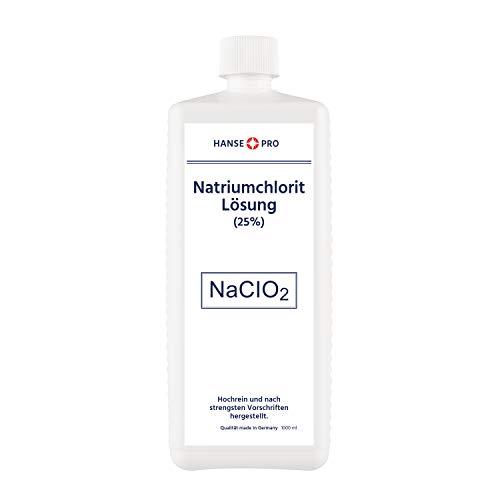 Hansepro Natriumchlorit Lösung (25%), 1 x 1000 ml, nach Original-Rezeptur, deutsches Qualitätsprodukt
