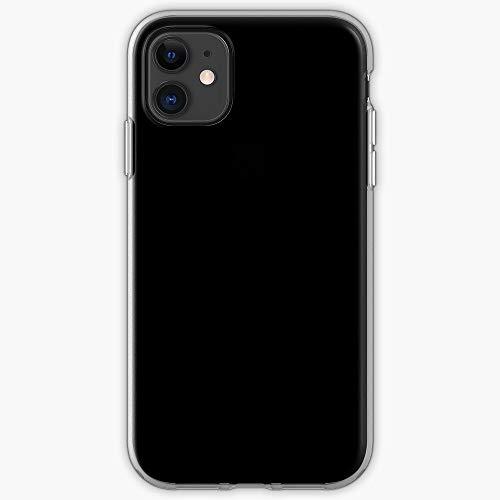 Black Plain Basic Void Solid Neutral Phone Case For All iPhone, iPhone 11, iPhone XR, iPhone 7 Plus/8 Plus, Huawei, Samsung Galaxy Illustration Stars Digital Rabbit Cute Bunny Kawaii Fun Chi