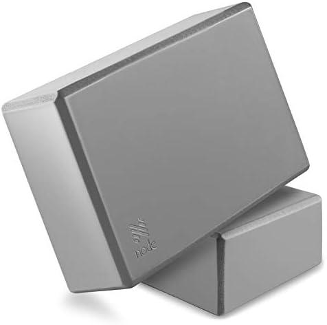Node Fitness Premium Yoga Block Set of 2 3 Inch Thick EVA Foam Brick Gray product image