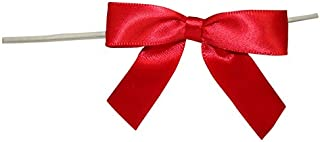 small red satin bows