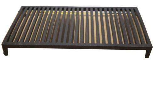 Rejilla de chimenea para el horno con patas de acero de hierro fundido para parrilla (53 x 28 cm)