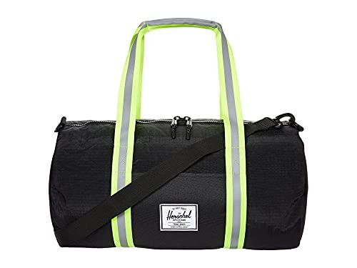 Herschel Sutton Mid-Volume Duffle Hand Bag Black Enzyme Ripstop/Black/Safety Yellow