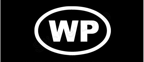 WP Widespread Panic Oval Car Truck Window Bumper Vinyl Graphic Decal Sticker Size- (6 inch) / (15 cm) Wide Color- Gloss White
