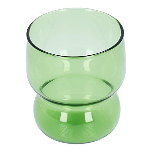 Atyhao Copas de Vino Copa de Vidrio de borosilicato Alto Taza de Jugo para Beber Resistente al Calor para la cafetería del Hotel en casa(#2)